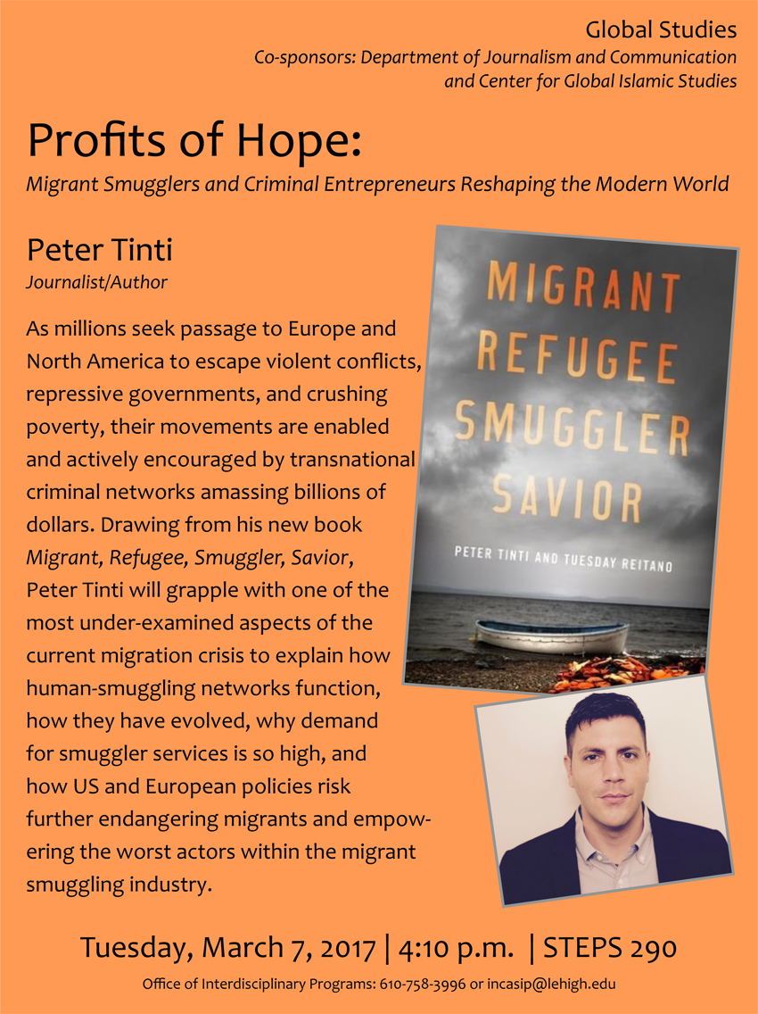 Lehigh University - Global Center for Islamic Studies - Profits of Hope - Peter Tinti