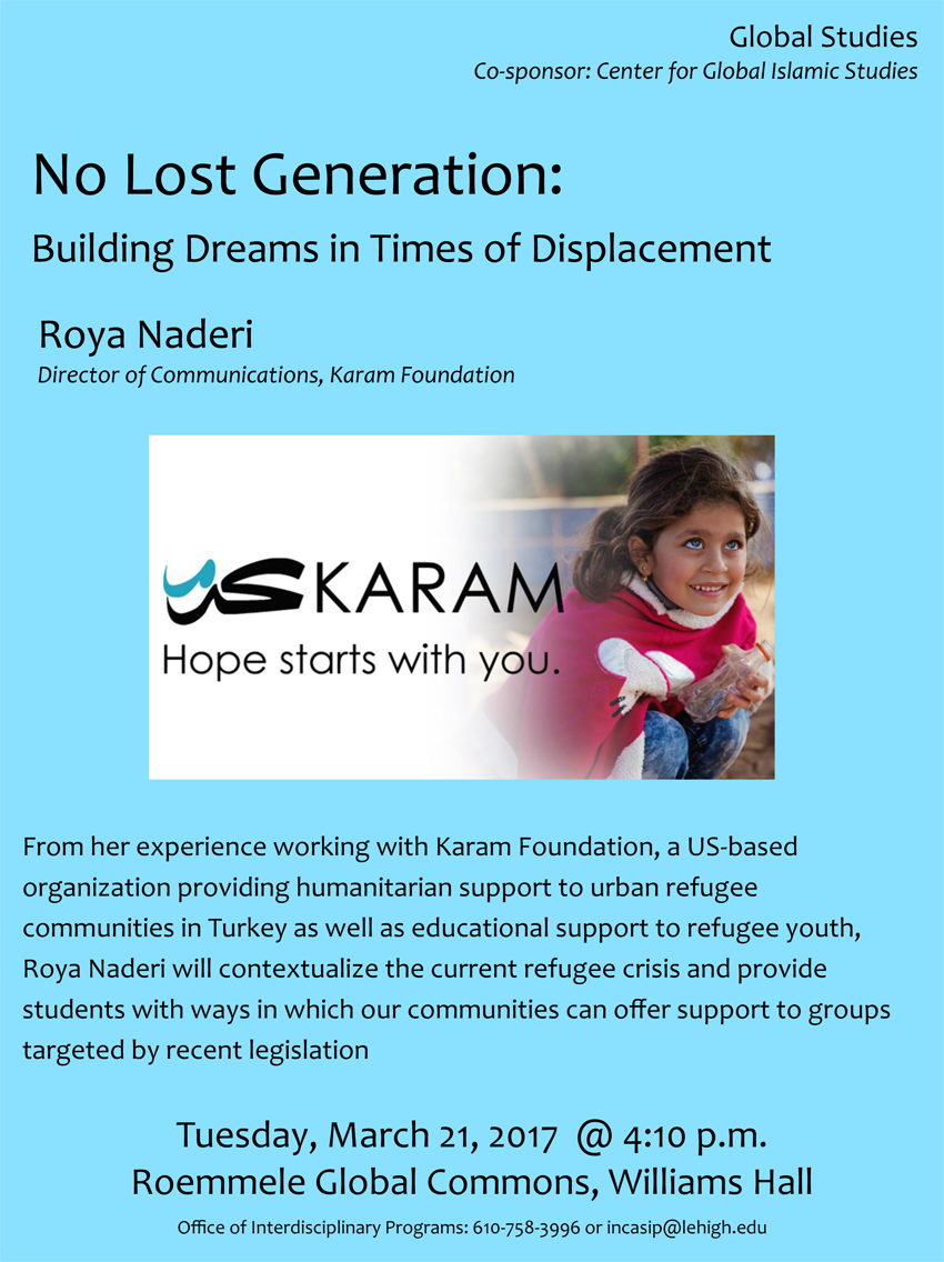 Lehigh University - Global Center for Islamic Studies - No Lost Generation - Roya Naderi