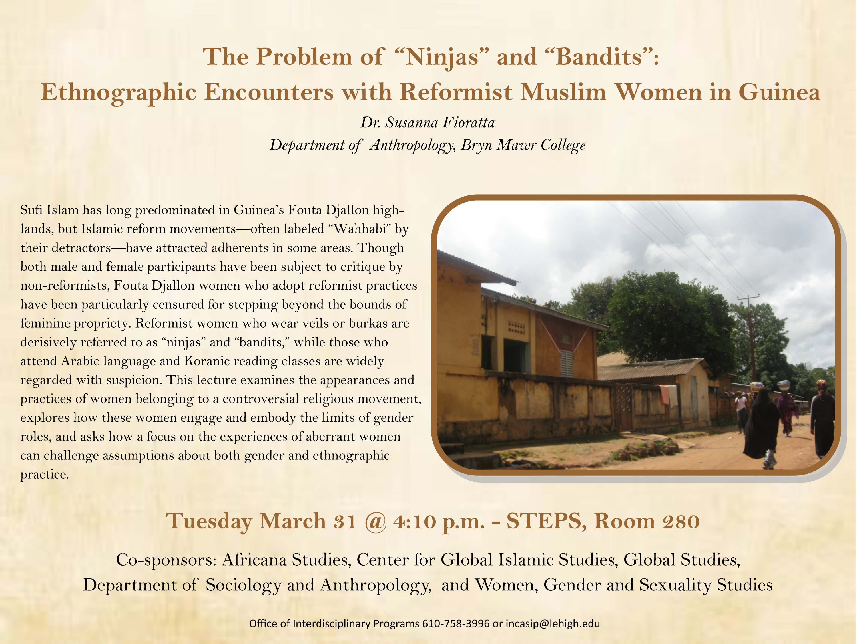 Lehigh University - Global Center for Islamic Studies - Problem of Ninjas and Bandits - Susanna Fioratta