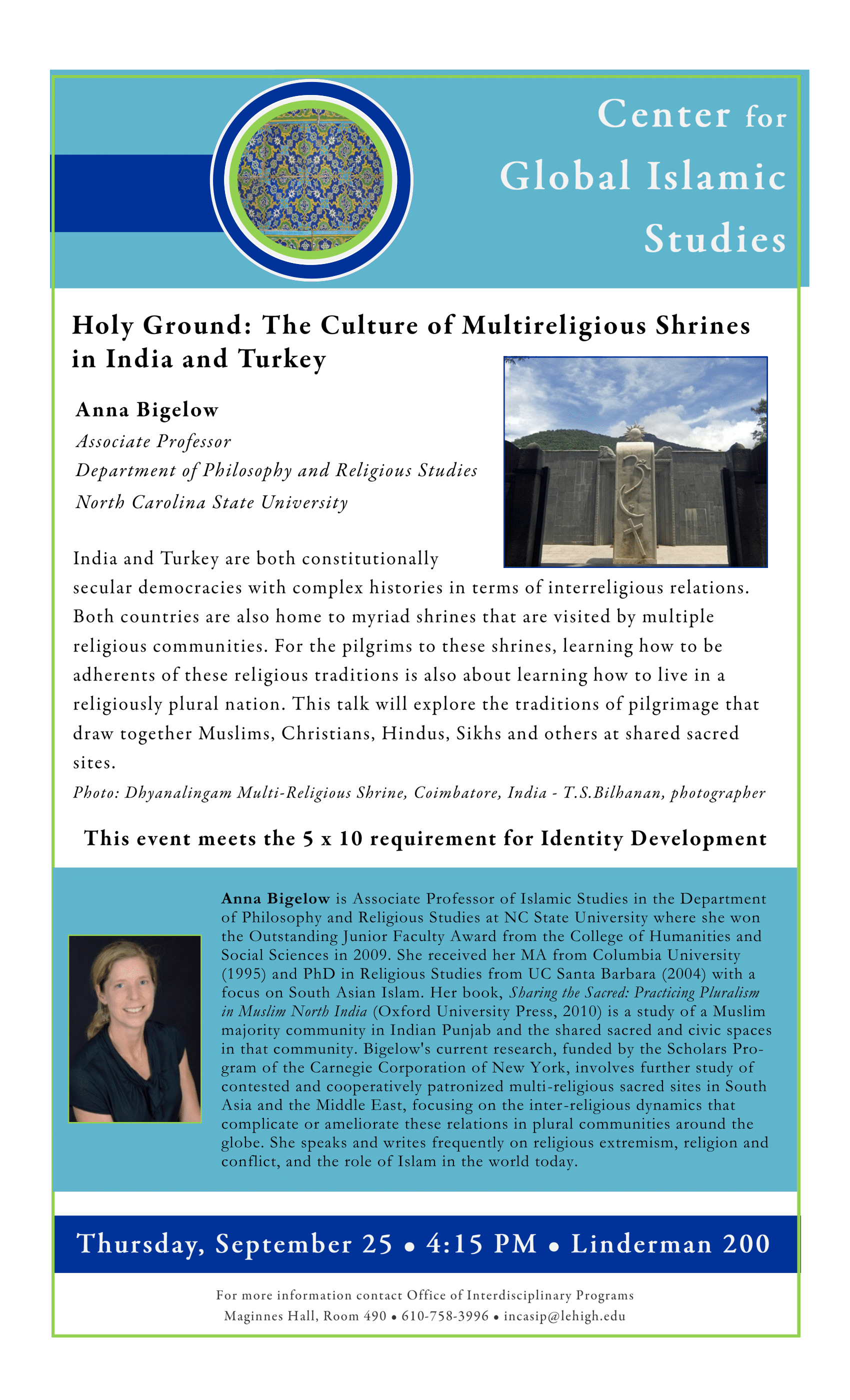 Lehigh University - Global Center for Islamic Studies - Holy Ground - Anna Bigelow