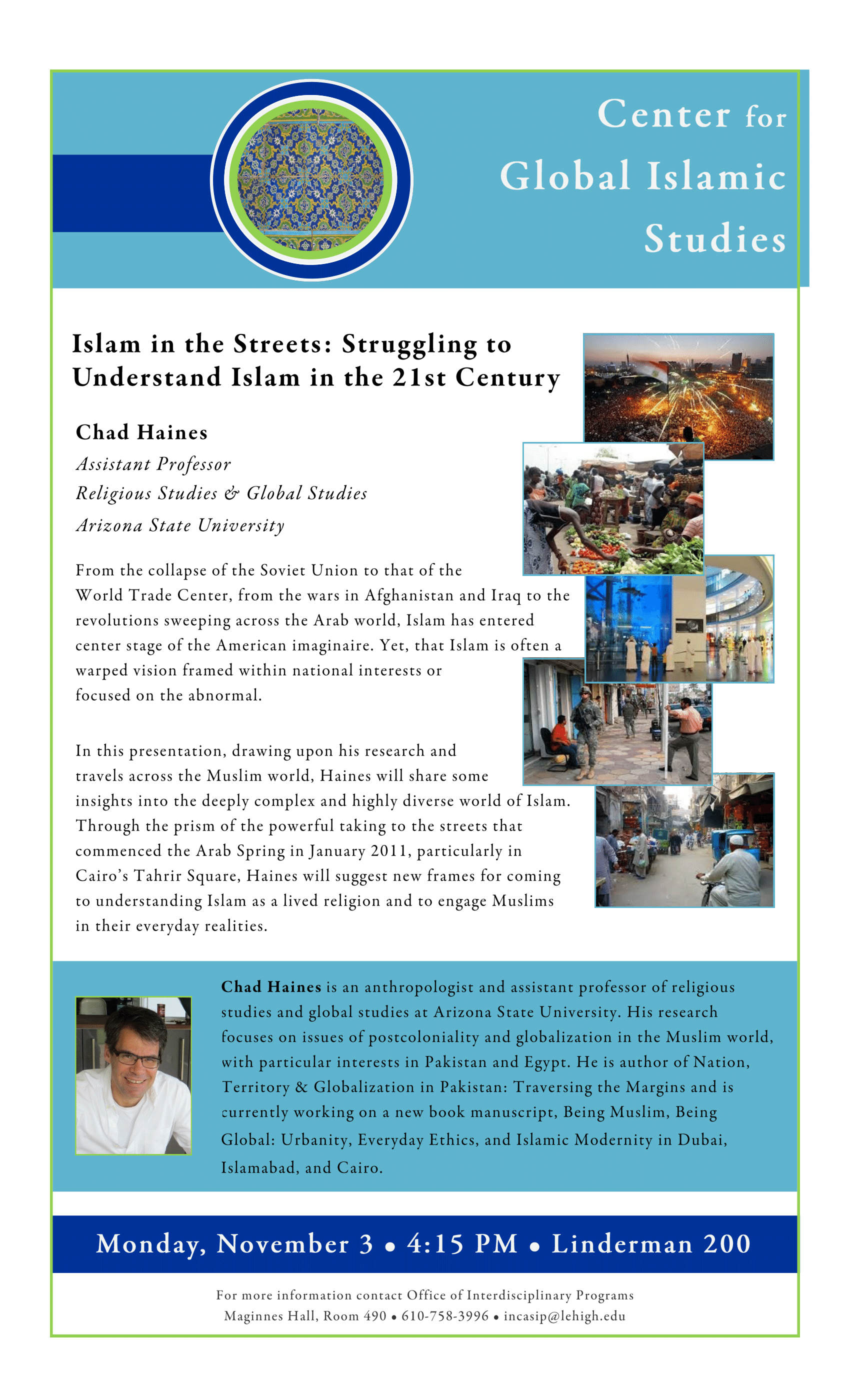 Lehigh University - Global Center for Islamic Studies - Islam in the Streets - Chad Haines