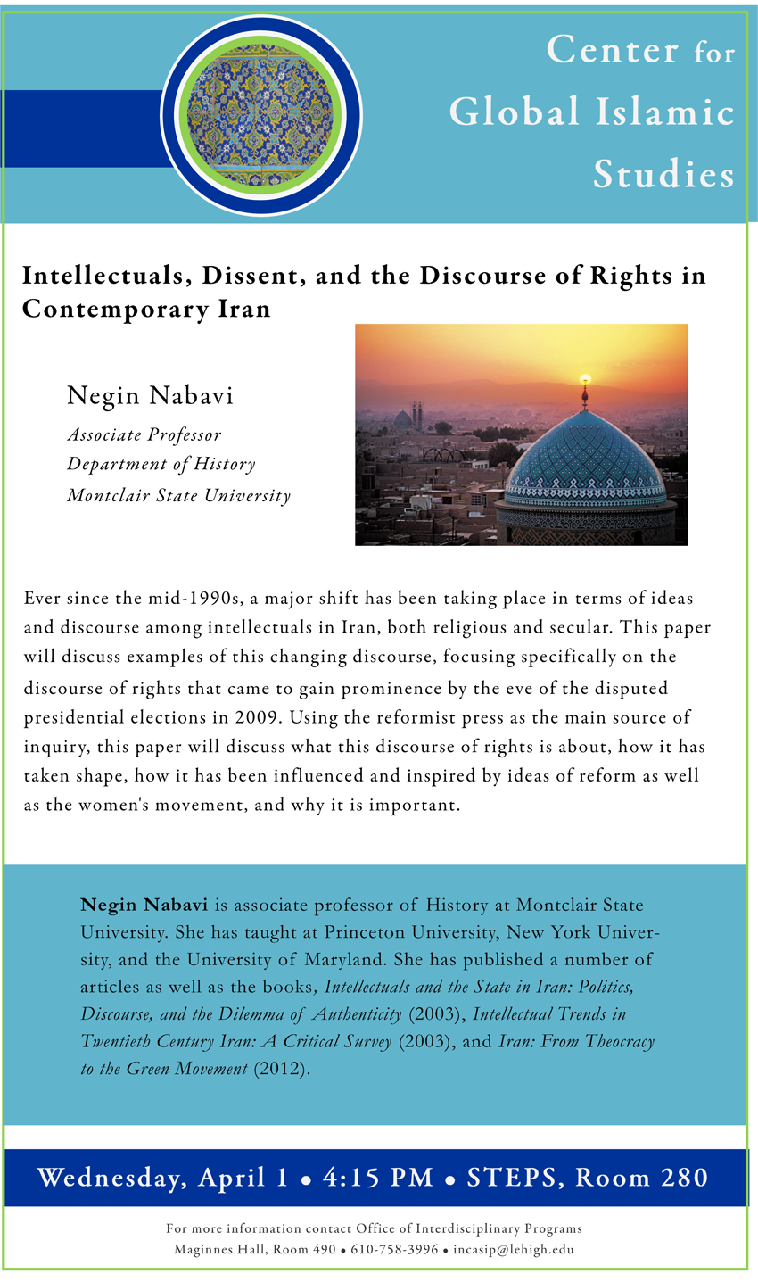 A major shift has been taking place in terms of ideas and discourse among intellectuals in Iran, both religious and secular. This paper will discuss examples of this changing discourse.