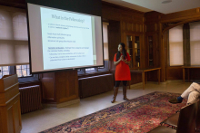 M. Shobhana Xavier speaking about fellowship in communities - Lehigh University