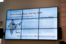 Rina Verma Williams's presentation about Bollywood, Beef and the BJP presentation - Lehigh University