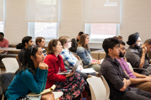 Students and faculty listen to Rina Verma Williams's speak about Bollywood, Beef and the BJP - Lehigh University