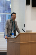 Khurram Hussain speaking at Caleb Elfenbein's presentation on Debating the Common Good: Islam, Social Theory, and the Ethics of Cross-cultural Analysis - Lehigh University