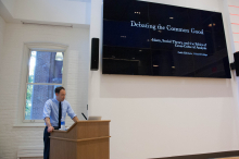 Caleb Elfenbein gives his presentation on Debating the Common Good: Islam, Social Theory, and the Ethics of Cross-cultural Analysis - Lehigh University