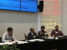 Pedram Partovi, Kamaruzaman bin Yusoff, Muhamad Ali, Jeffrey Hadler (L to R) leading the Expressions of Adab Conference - Lehigh University