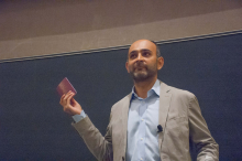 Mohsin Hamid speaking about globalization and how it relates to his life and work - Lehigh University