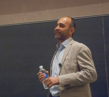 Mohsin Hamid leading a discussion about his works and life and how it relates to globalization - Lehigh University