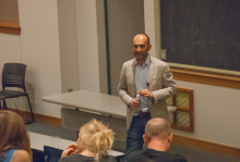 Mohsin Hamid leads a discussion with students and faculty of Lehigh University about Globalism - Lehigh University