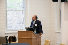 Dr. Omid Safi speaking about using Adab as a model of Muslim refinement - Lehigh University