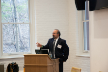 Dr. Omid Safi speaks about Adab as a form of Muslim refinement at Lehigh University