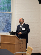 Dr. Omid Safi presenting about Adab as a model for Muslim refinement - Lehigh University