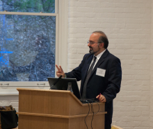 Dr. Omid Safi speaking about Adab and its use as a model for Muslim refinement - Lehigh University