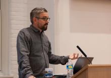 Lehigh University Director of the Center of Global Islamic Studies, Robert Rozehnal, introducing the speaker, Eric Davis
